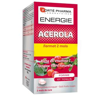 Forte Pharma Energy Acerola Σημαντική Φυσική Πηγή Βιταμίνης C 60tabs