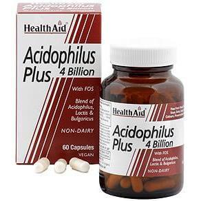 Health Aid Balanced Acidophilus Plus 100 Million (+Bifidus) Οξεόφιλα Προβιοτικά Με Φρουκτο-Ολιγοσακχαρίτες 60caps