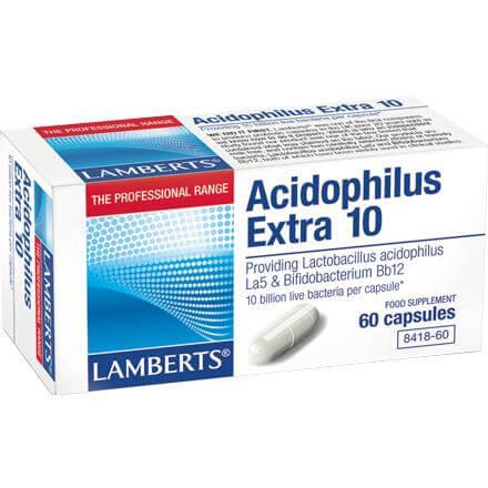 Lamberts Acidophilus Extra 10 Συμπλήρωμα Διατροφήςγια Άτομα που Πάσχουν από Διαταραχή της Ισορροπίας της Εντερικής Χλωρίδας – 30 tabs