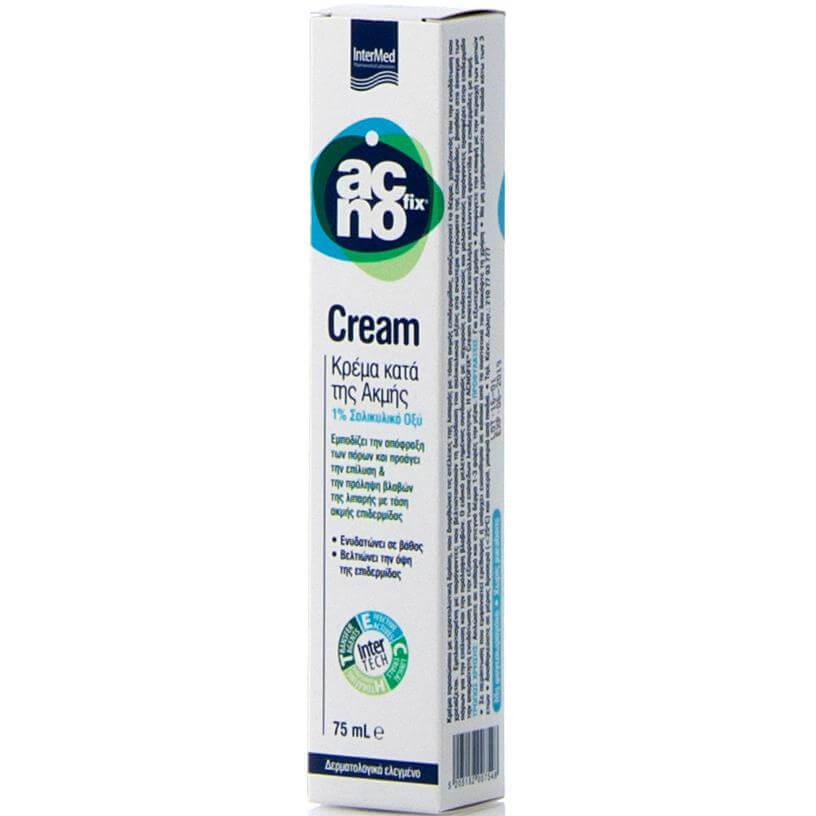 Intermed Acnofix Anti Acne Cream Κρέμα Κατά της Ακμής που Εμποδίζει την Απόφραξη των Πόρων της Λιπαρής Επιδερμίδας 75ml