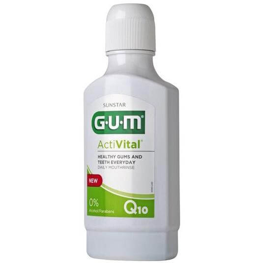 Gum ActiVital Q10 Daily Mouthrinse 6061 Στοματικό Διάλυμα για Υγιή Δόντια και Ούλα 300ml