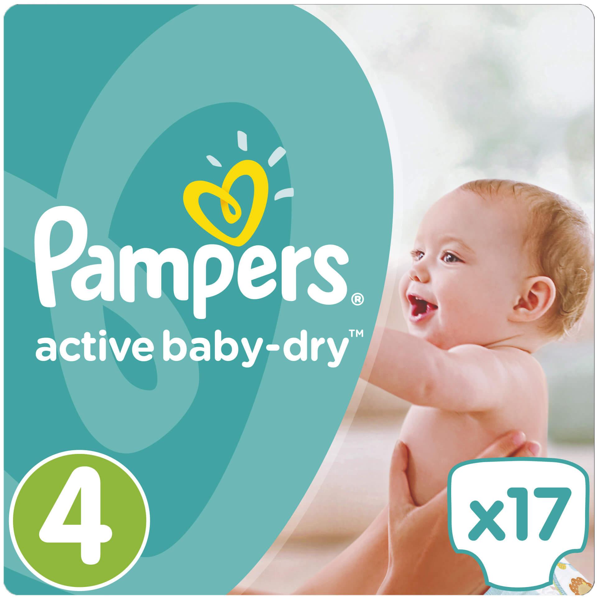 Pampers Active Baby Dry No4 (8-14kg) 17πάνες μητέρα παιδί   περιποίηση για το μωρό   πάνες για το μωρό