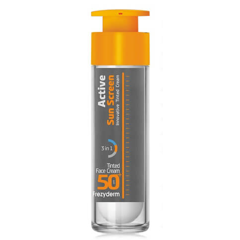 Frezyderm Active Sun Screen Tinded Face Cream Spf50+ Ενεργή Έγχρωμη Αντηλιακή Κρέμα Υψηλής Προστασίας με Ειδική Μαύρη Χρώση 50ml