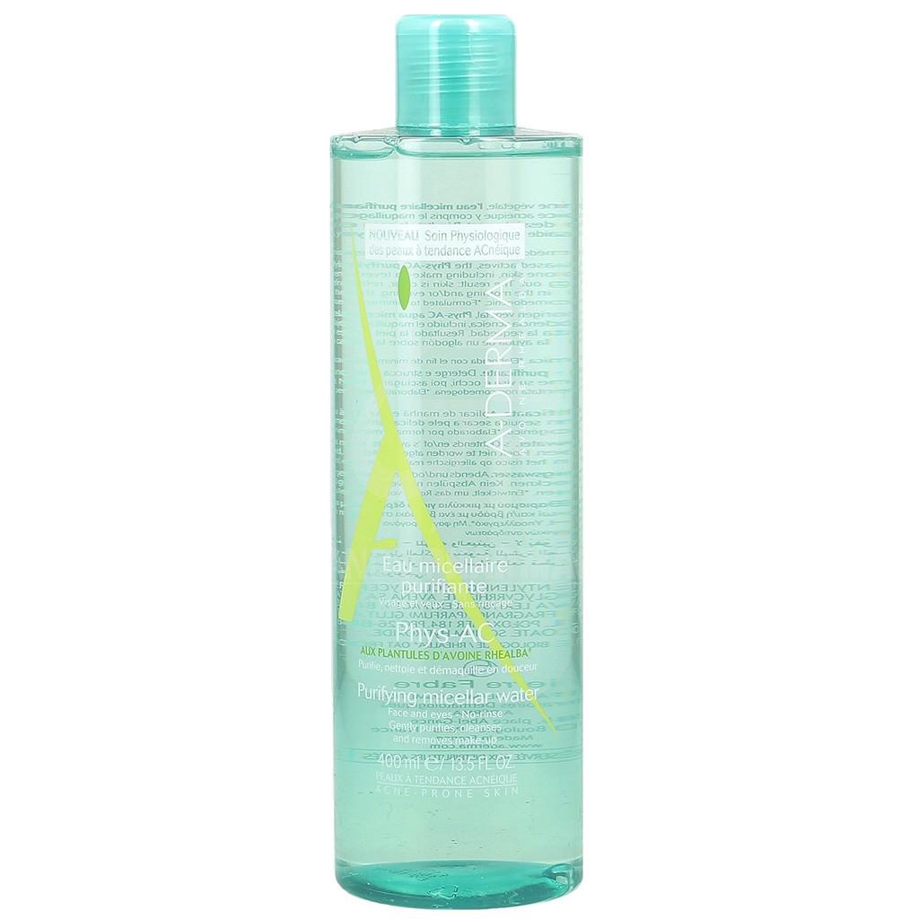 A-Derma Phys-ACEau Micellaire Purifiante Εξυγιαντικό Νερό Καθαρισμού & Ντεμακιγιάζ Προσώπου Ματιών 400ml