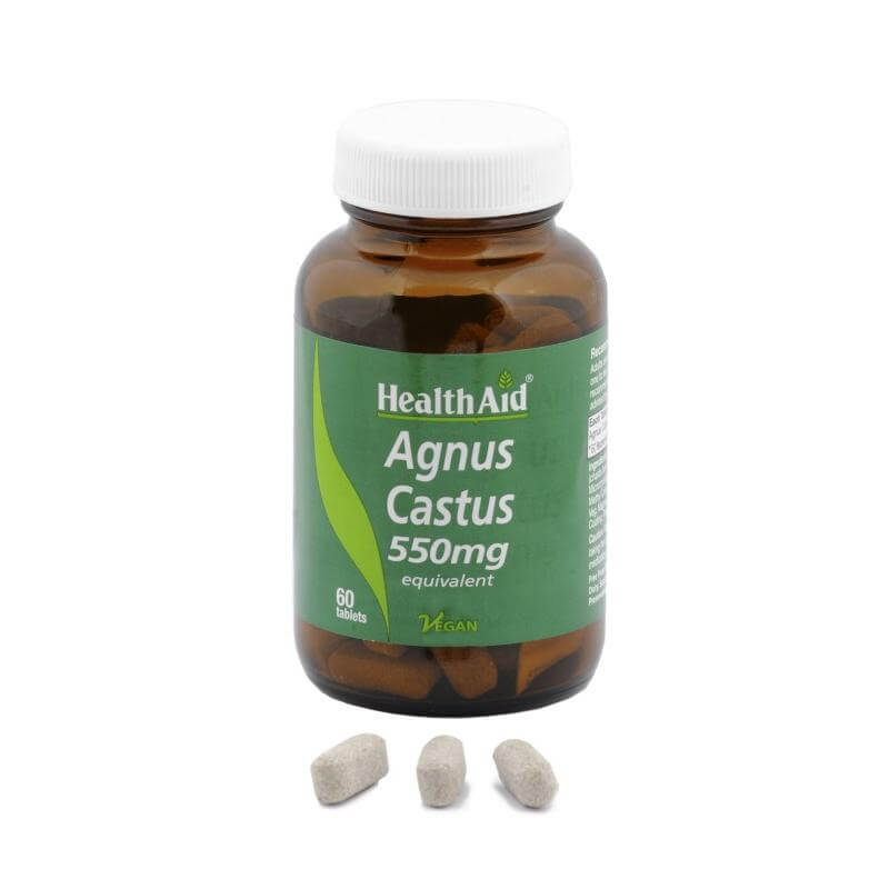 Health Aid Agnus Castus 550mg Βοηθά Στη Περίοδο Της Εμμηνόπαυσης 60tabs