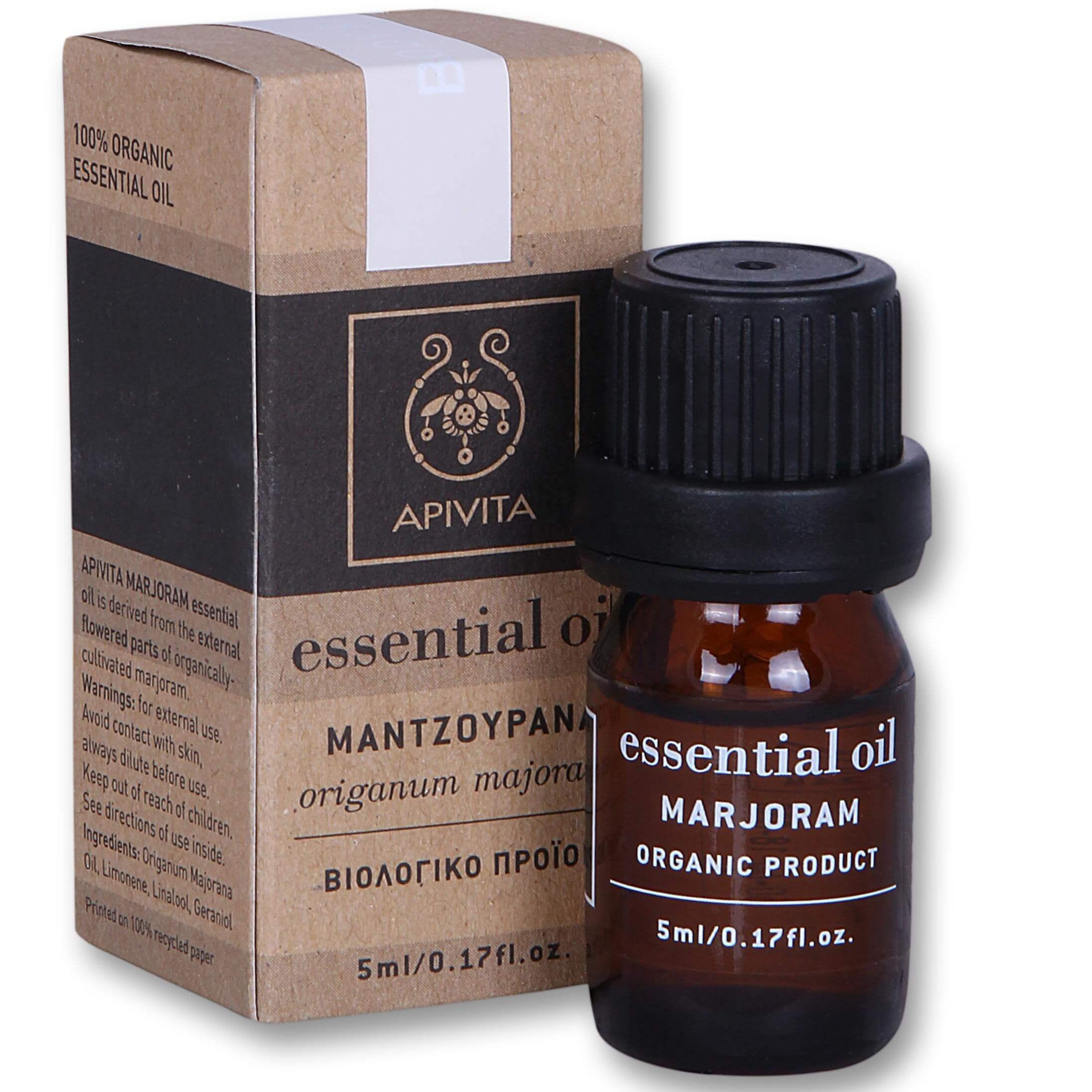 Apivita Essential Oil – Αιθέριο Έλαιο Μαντζουράνας 5ml