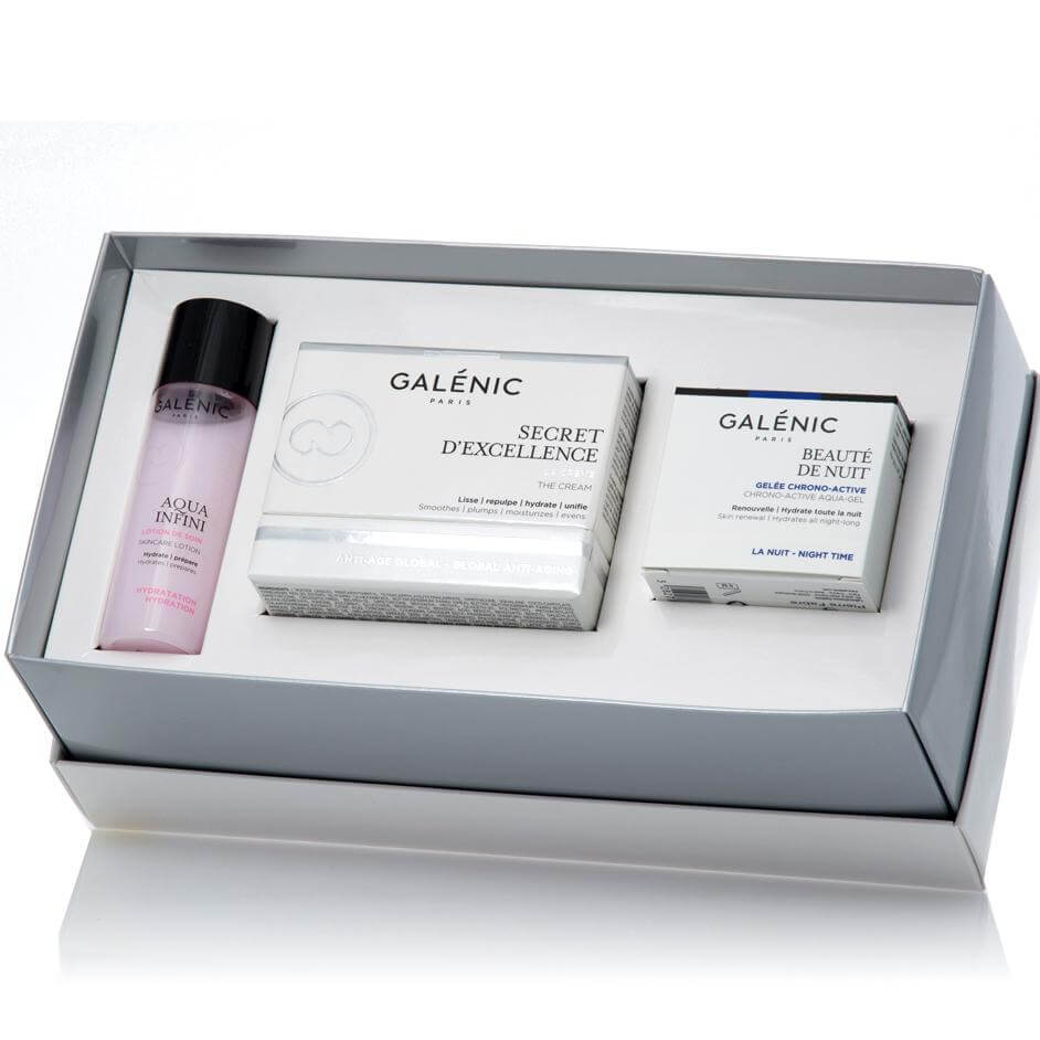 Galenic Gift Set Secret d Excellence La Creme 50ml & Δώρο Beaute de Nuit 15ml & Aqua Infini Lotion de Soin 40ml
