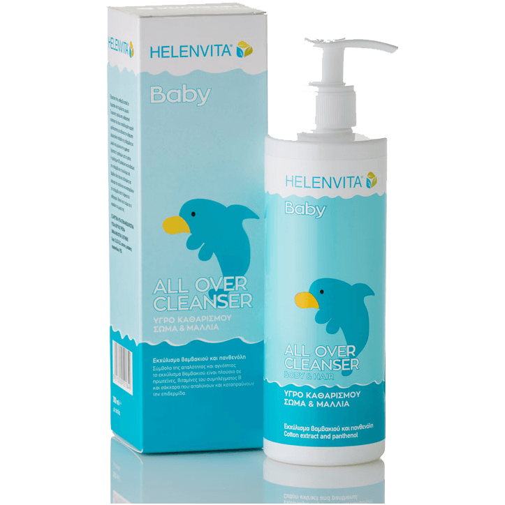 Helenvita Baby All Over Cleanser Καθαρίζει Απαλά Το Δερματάκι Και Τα Μαλλιά Του Μωρού 300ml