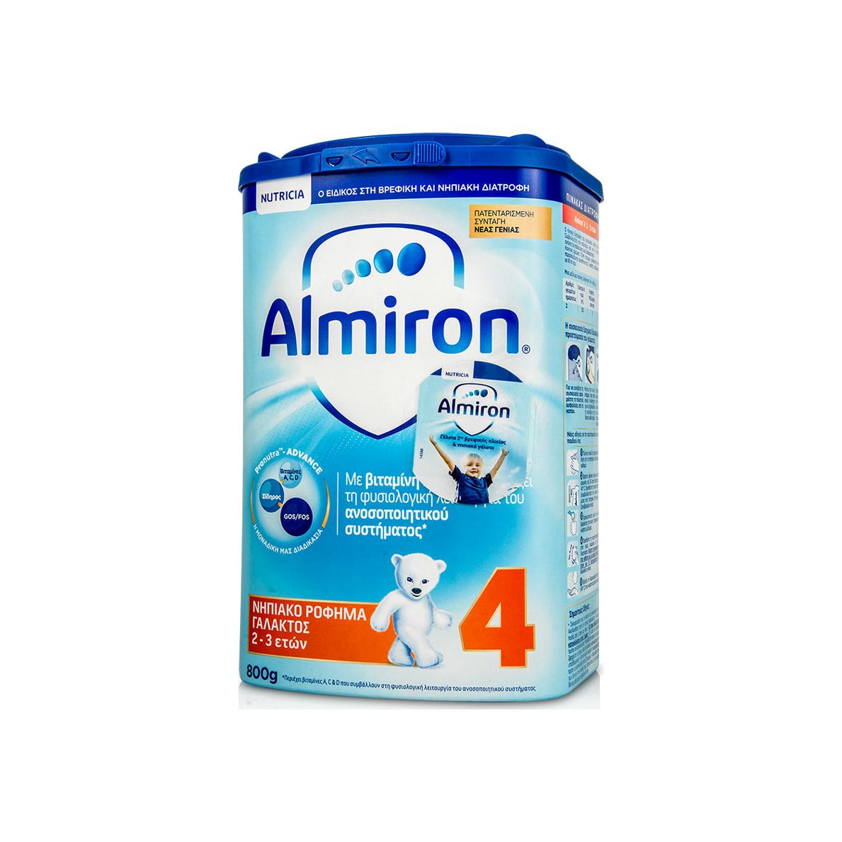 Nutricia Almiron 4 Νηπιακό Ρόφημα Γάλακτος 2-3 Ετών 800gr