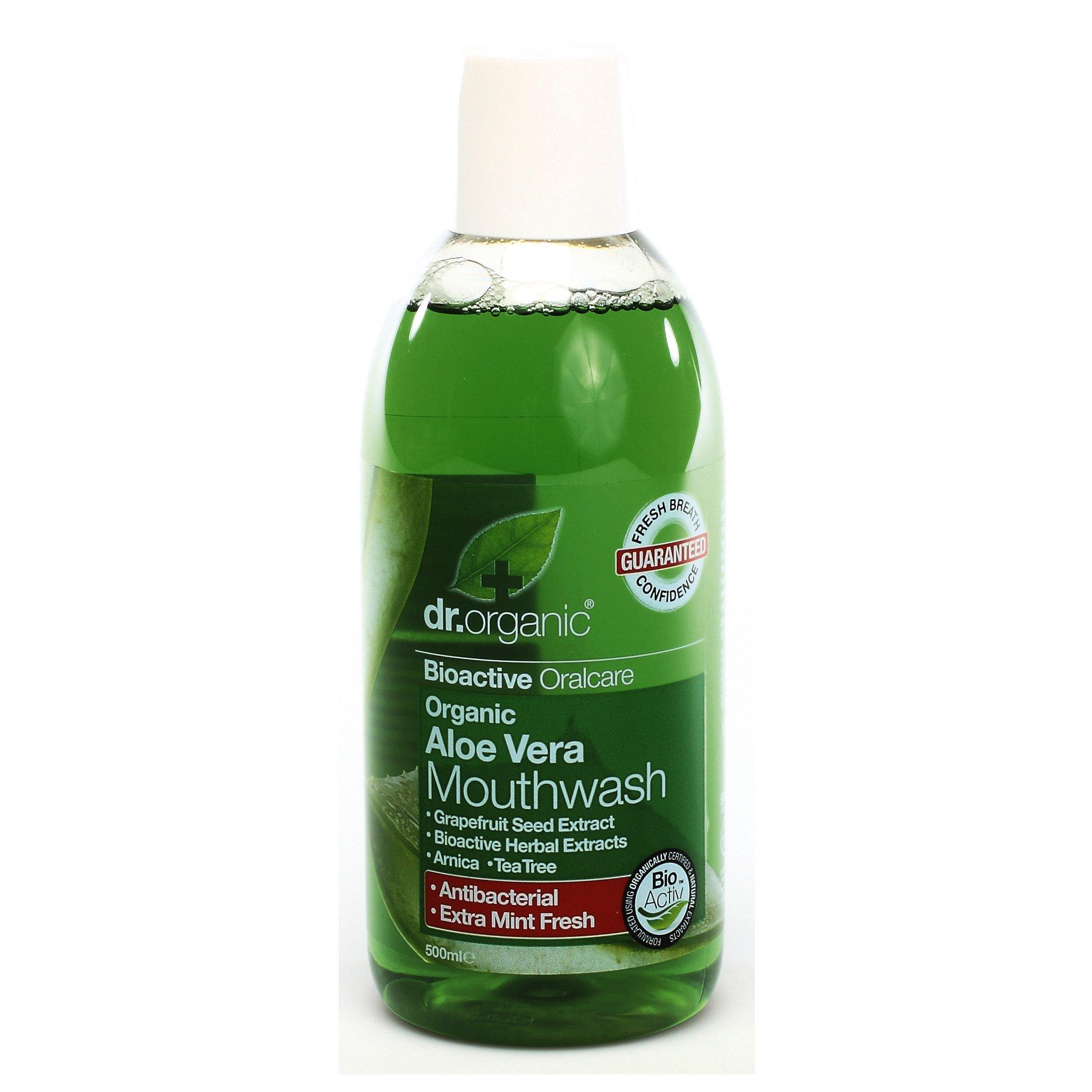 Dr Organic Organic Aloe Vera Mouthwash Στοματικό Διάλυμα με Βιολογική Αλόη Βέρα 500ml