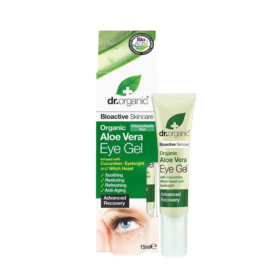 Dr.Organic Aloe Vera Eye Gel Ζελ Ματιών με Βιολογική Αλόη Βέρα για Μείωση των Πρηξιμάτων, Λεπτών Γραμμών & Μαύρων Κύκλων 15ml