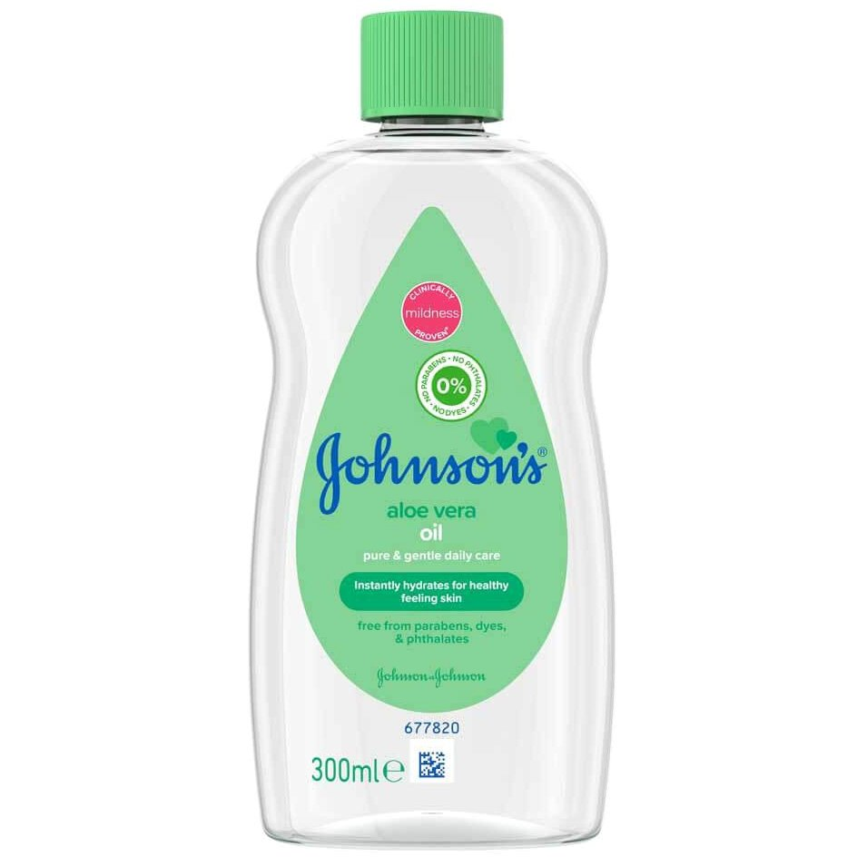 Johnsons Baby Aloe Vera Oil Ενυδατικό Λάδι 300ml