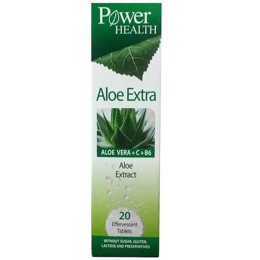 Power Health Aloe Extra Συμπυκνωμένο Εκχύλισμα Καθαρής Αλόης 20eff.tabs
