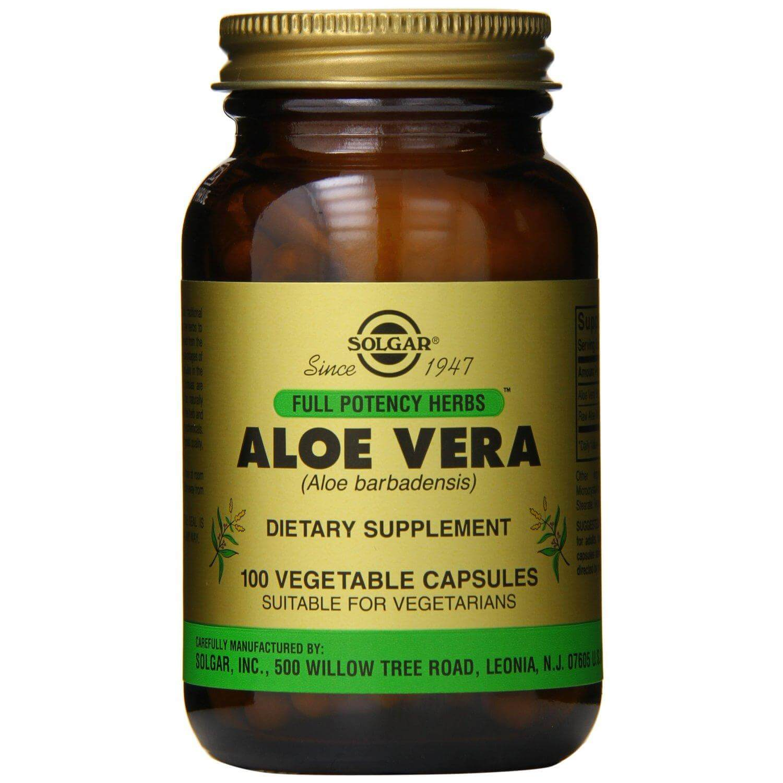 Solgar Aloe Vera Συμπλήρωμα Διατροφής για την Αποτοξίνωση του Πεπτικού Συστήματος 100veg.caps