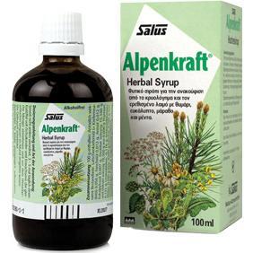 Power Health Alpenkraft Syrup Ανακούφιση Από Τα Συμπτώματα Του Βήχα, του Κρυολογήματος & του Ερεθισμένου Λαιμού 100ml