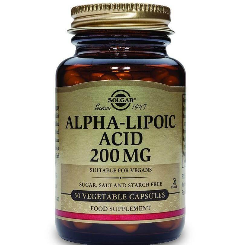 Solgar Alpha Lipoic Acid Συμπλήρωμα Διατροφής, Ισχυρό Αντιοξειδωτικό veg.caps – 120mg veg 60s