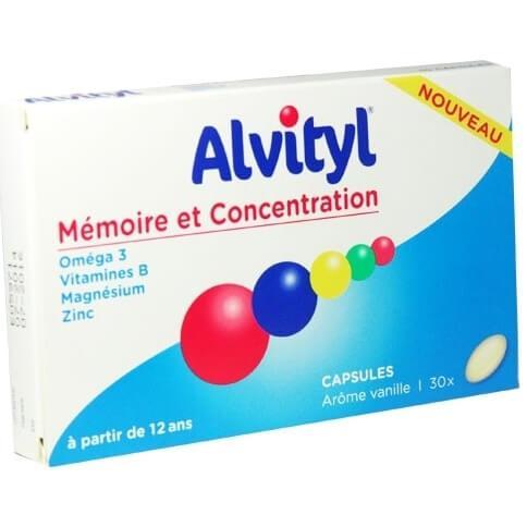 Alvityl Memory & Concentration Συμβάλει στην Διατήρηση των Λειτουργιών της Μνήμης και της Συγκέντρωσης 30caps