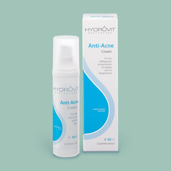 Hydrovit Anti-Acne Cream Κρέμα Για Ακμή 50ml