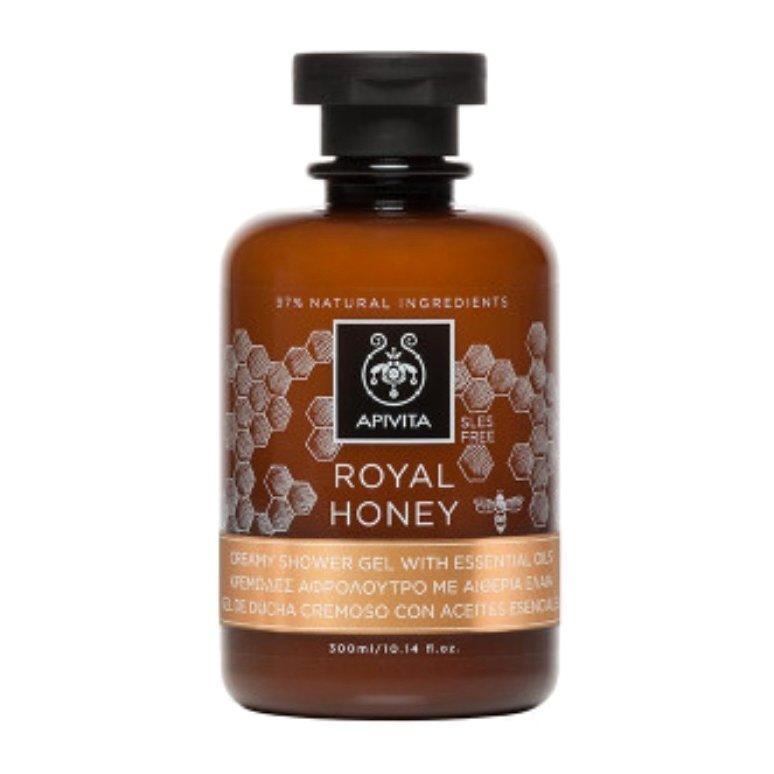 Royal Honey Creamy Shower Gel With Essential Oils 300ml – Apivita,Κρεμώδες Αφρόλουτρο με Αιθέρια Έλαια & Μέλι για Τόνωση & Αναζω