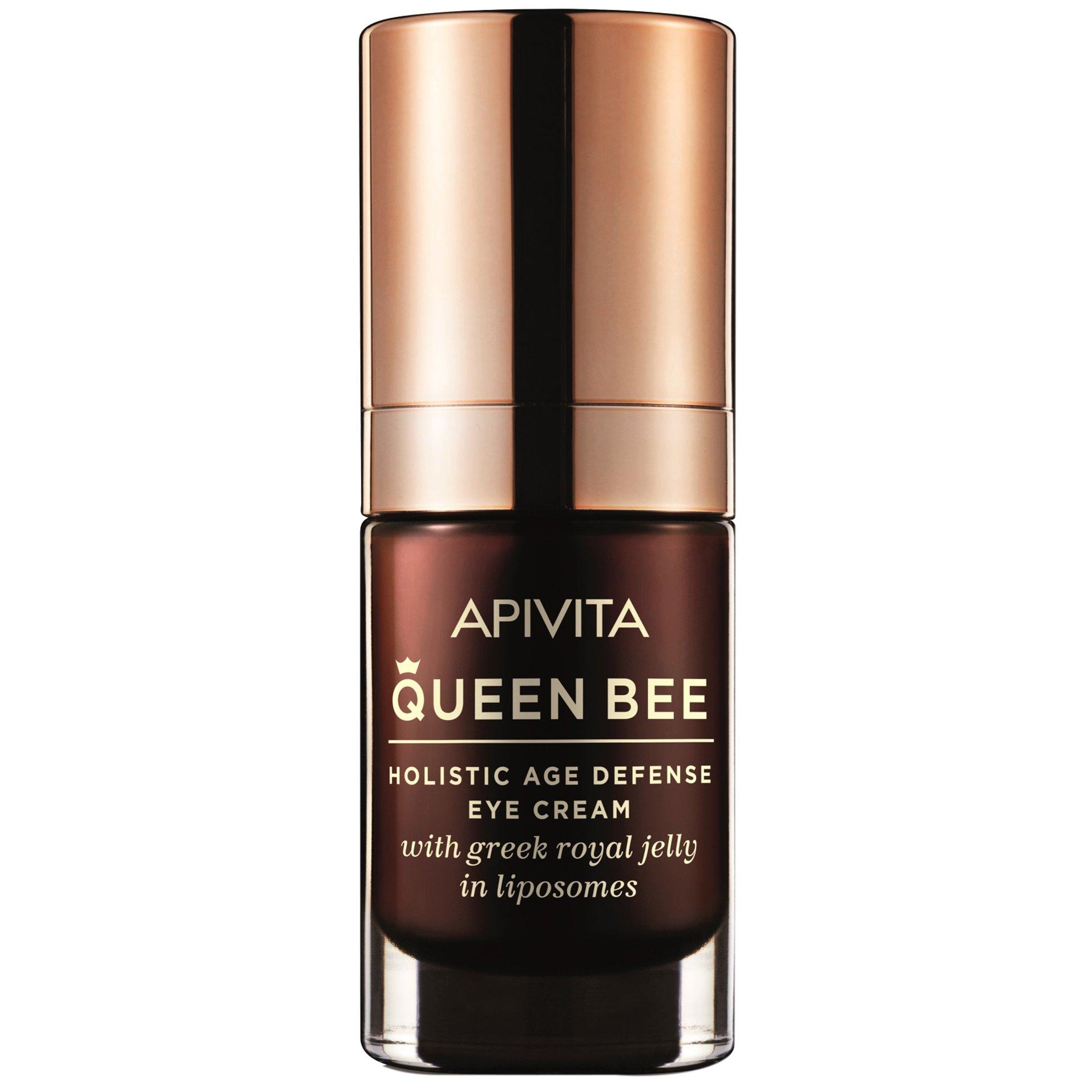 Apivita Queen Bee Kρέμα Lifting Ματιών Ολιστικής Αντιγήρανσης με Ελληνικό Βασιλικό Πολτό σε Λιποσώματα 15ml