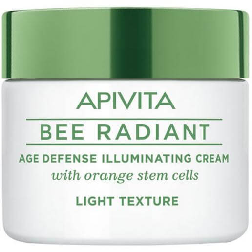 Apivita Bee Radiant Κρέμα Αντιγήρανσης & Λάμψης, Ελαφριά Υφή με Βλαστοκύτταρα Πορτοκαλιού 50ml