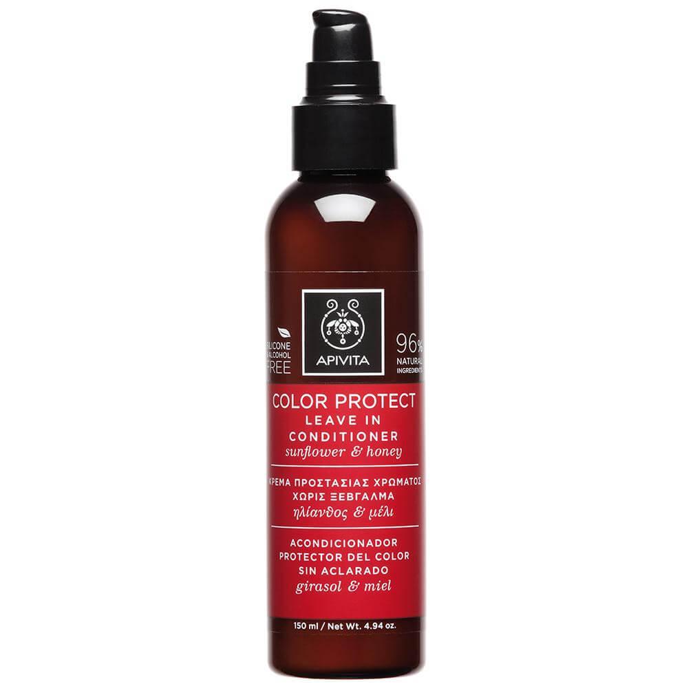 Apivita Color Protect Leave in Contitioner Κρέμα Προστασίας Χρώματος Χωρίς Ξέβγαλμα με Ηλίανθο & Μέλι 150ml