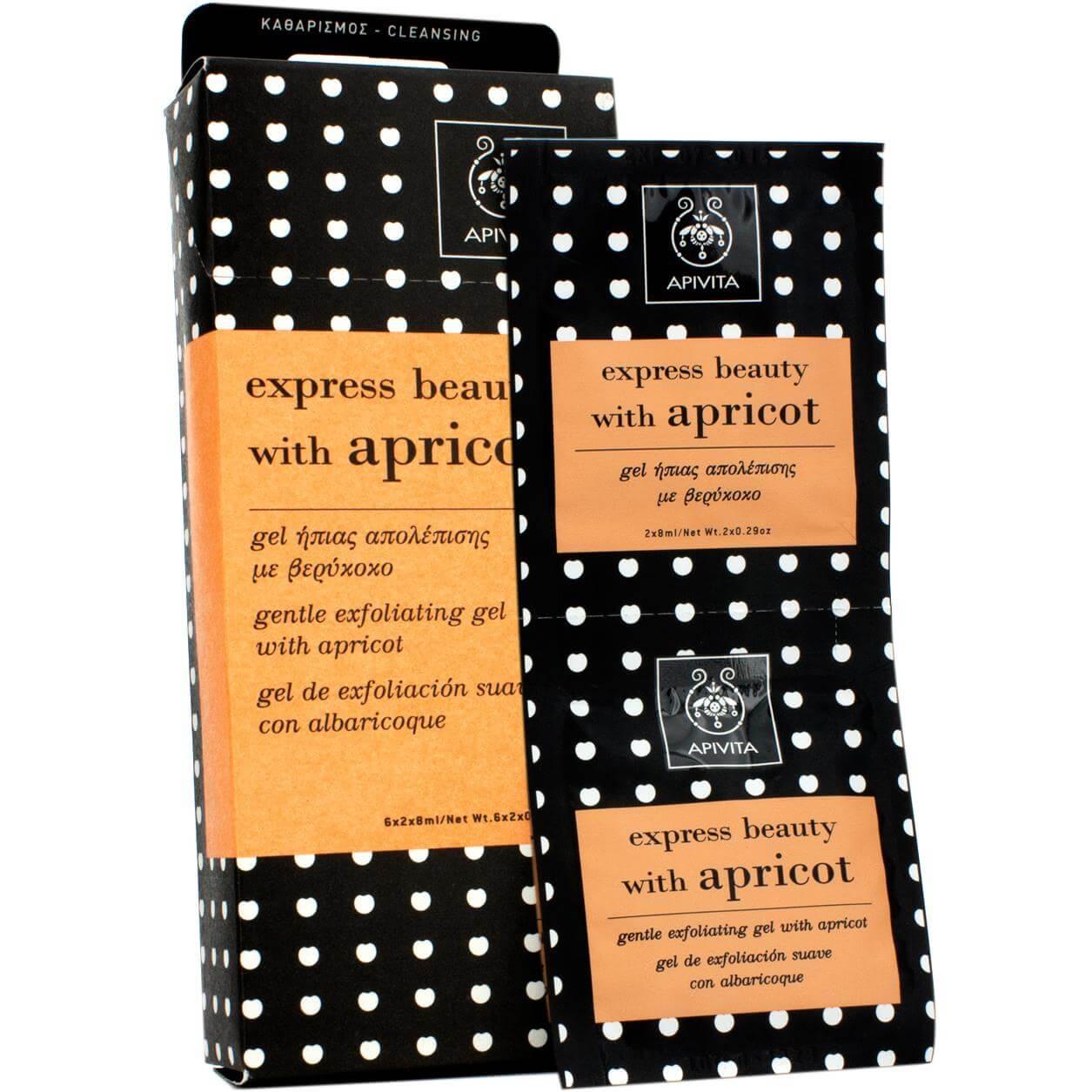 Apivita Express Beauty Gel Ήπιας Απολέπισης Με Βερίκοκο 2x8ml