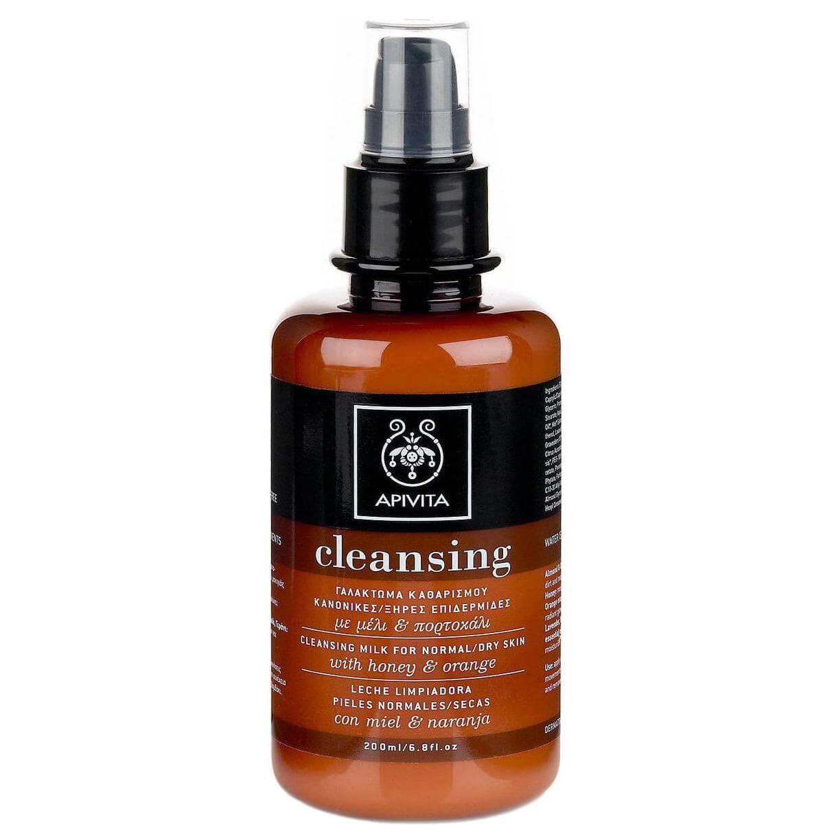 Apivita Γαλάκτωμα Καθαρισμού Για Κανονικές/Ξηρές Επιδερμίδες Με Μέλι & Πορτοκάλι 200ml