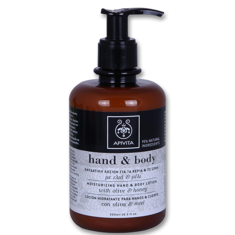 Apivita Hand & Body Ενυδατική Λοσιόν για τα Χέρια & το Σώμα με Ελιά & Μέλι 300ml