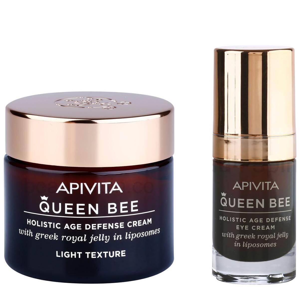 Apivita Πακέτο Προσφοράς Queen Bee Light Cream Kρέμα Ημέρας Ελαφριάς Υφής 50ml & σετ   εκπτώσεις νοεμβρίου 2016