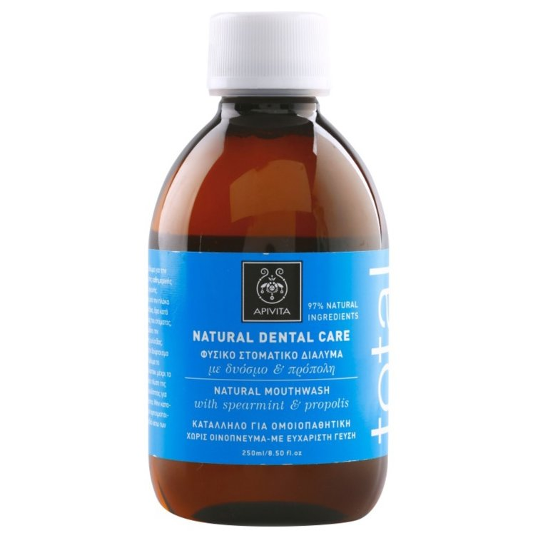Apivita Natural Dental Care Φυσικό Στοματικό Διάλυμα Με Πρόπολη & Δυόσμο 250ml