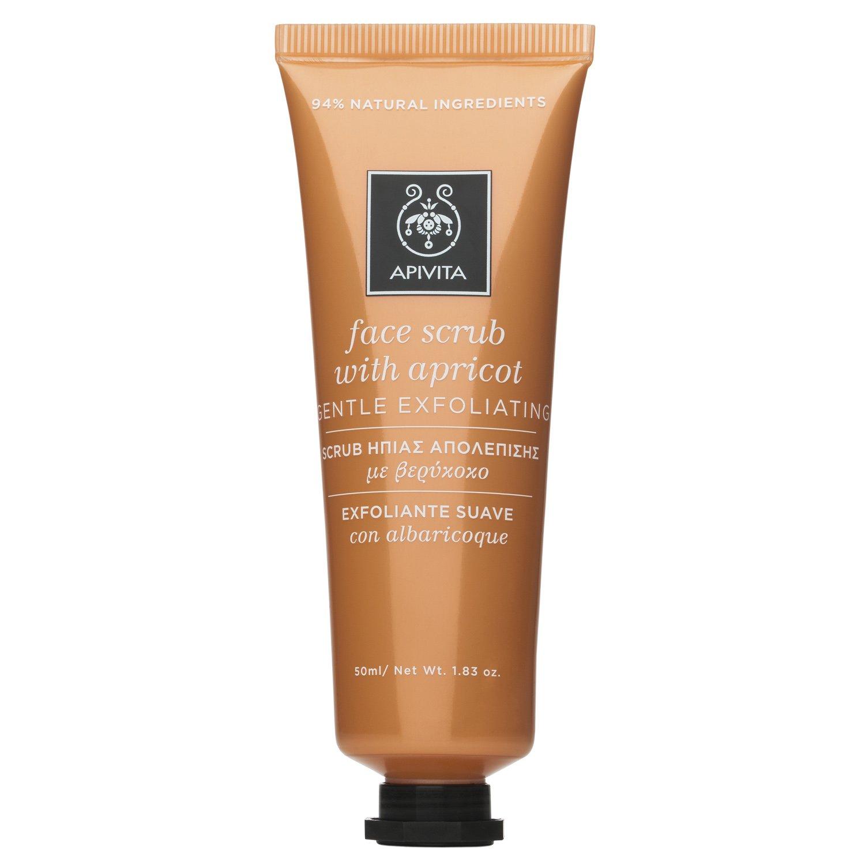 Apivita Face Scrub With Apricot Scrub Ήπιας Απολέπισης με Βερίκοκο, Κατάλληλο για Κανονική/Ξηρή Επιδερμίδα 50ml