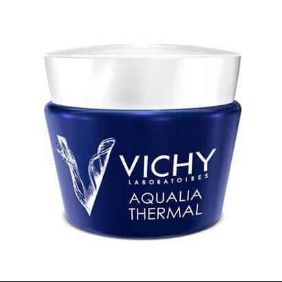 Vichy Aqualia Thermal Night Spa Κρέμα Nυκτός & Mάσκα Eντατικής Eνυδάτωσης 75ml