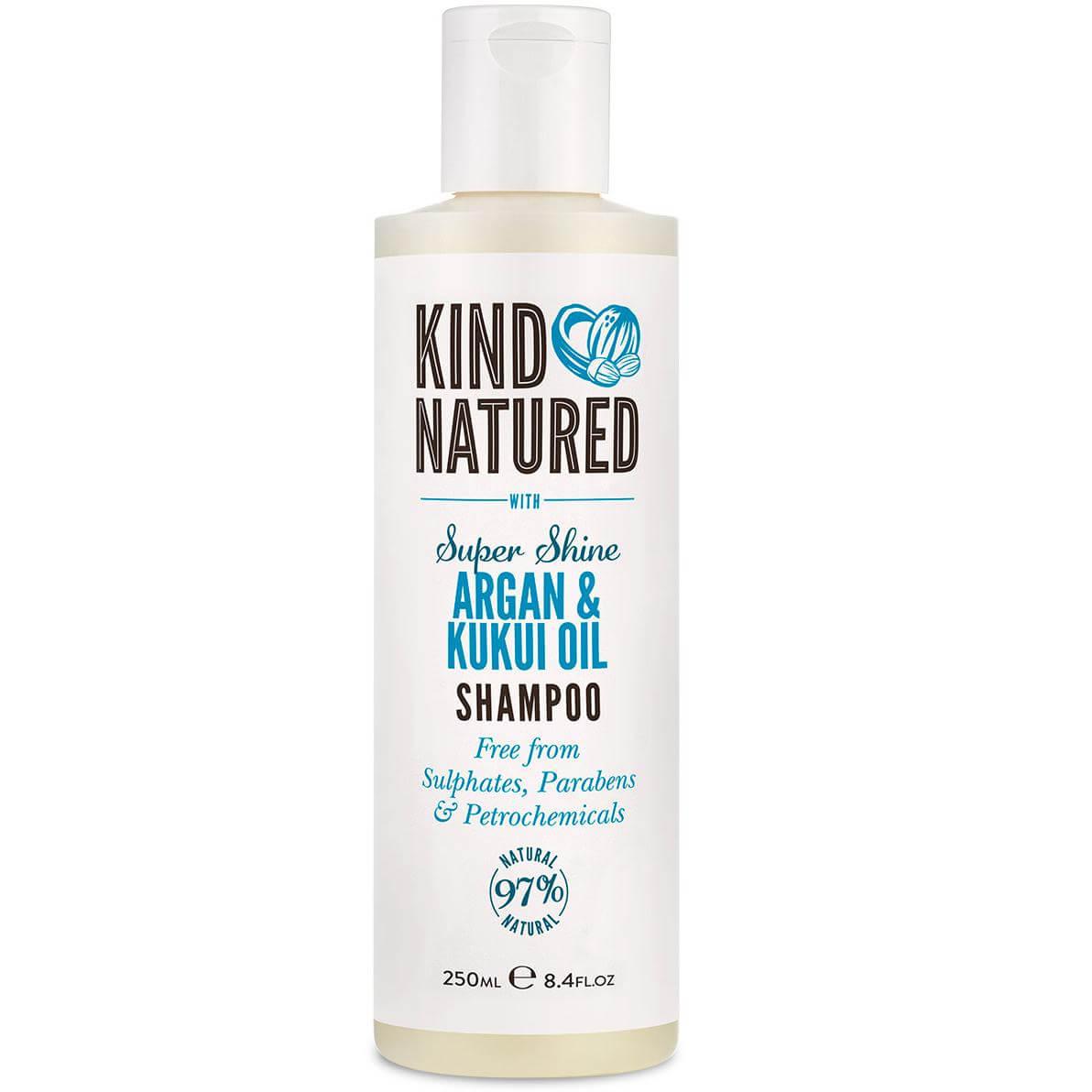 Kind Natured Super Shine Shampoo Argan & Kukui Oil Σαμπουάν για Λάμψη σε Μαλλιά που Φριζάρουν 250ml