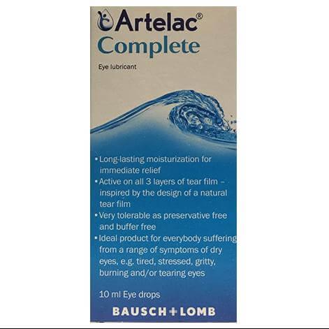 Bausch & Lomb Artelac Complete Λιπαντικό Οφθαλμικό Διάλυμα 10ml