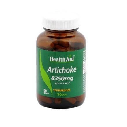 Health Aid Artichoke 8350mg Διατήρηση Της Υγείας Του Συκωτιού Και Του Πεπτικού Συστήματος 60caps