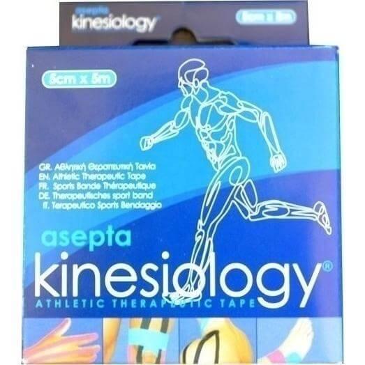 Asepta Kinesiology Tape Ταινία Αθλητική Αυτοκόλλητη Συγκράτησης 5cm x 5m – Μπεζ