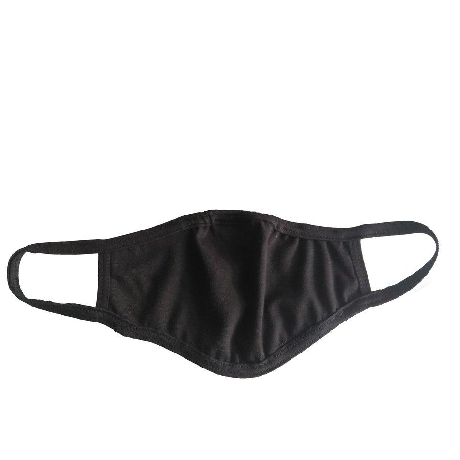 MGO Μάσκα Προσώπου Face Mask Υφασμάτινη με Λάστιχο Μαύρη Πολλαπλών Χρήσεων 1 τεμάχιο