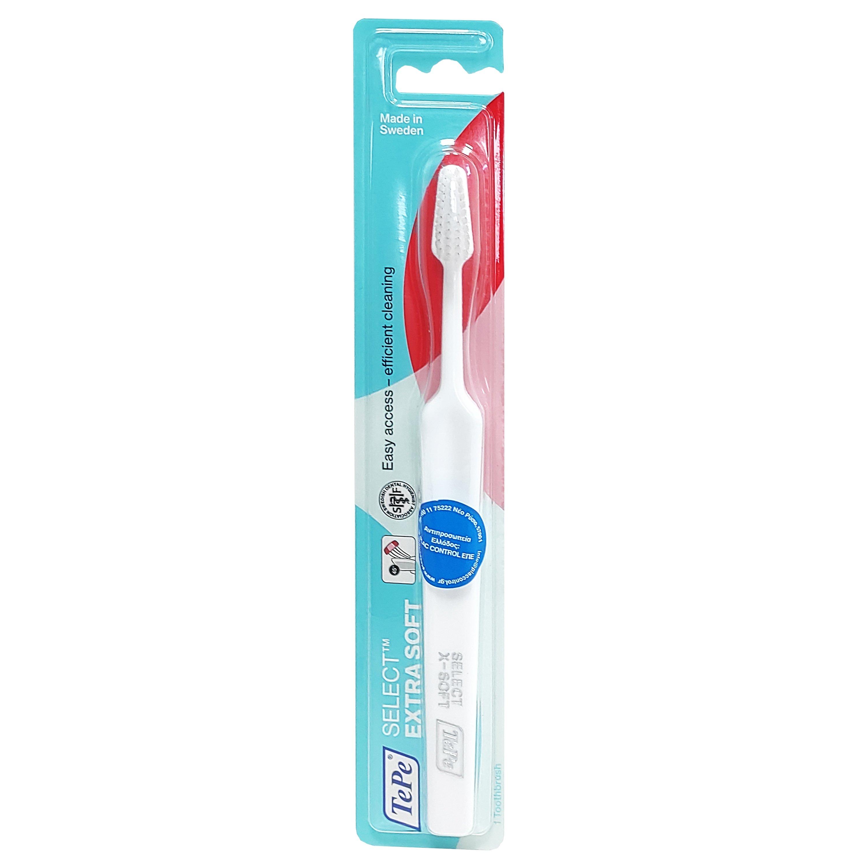 Tepe Select Extra Soft Οδοντόβουρτσα Πολύ Μαλακή για Αποτελεσματικό Καθαρισμό & Προστασία των Ούλων 1 Τεμάχιο – άσπρο