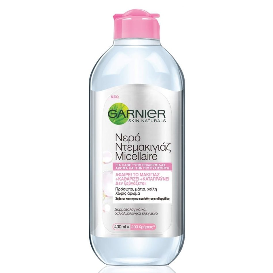 Garnier Skin Active Micellaire Cleansing Water 3 in 1 Νερό Ντεμακιγιάζ για Πρόσωπο Μάτια Χείλη για Ευαίσθητες Επιδερμίδες – 400ml