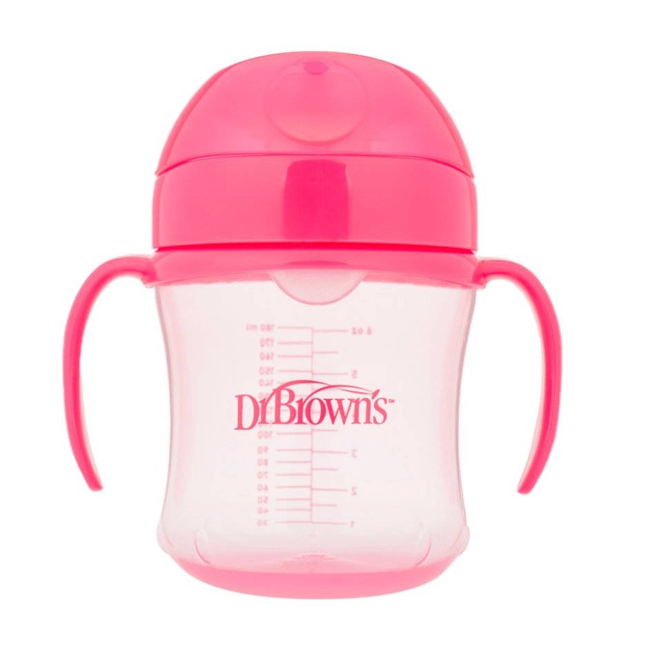 Dr Browns Soft Spout Transision Cup Κύπελλο Εκπαίδευσης με Μαλακό Στόμιο, από 6 Μηνών 180ml – ροζ