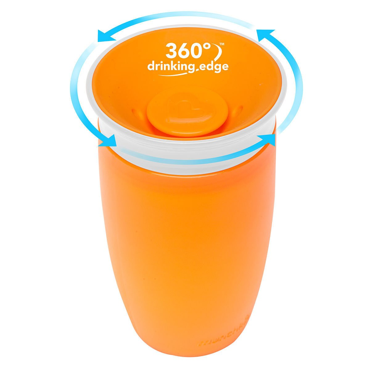 Munchkin Sippy Cup Παιδικό Κύπελλο Miracle 360° 12m+, 296ml – πορτοκαλί
