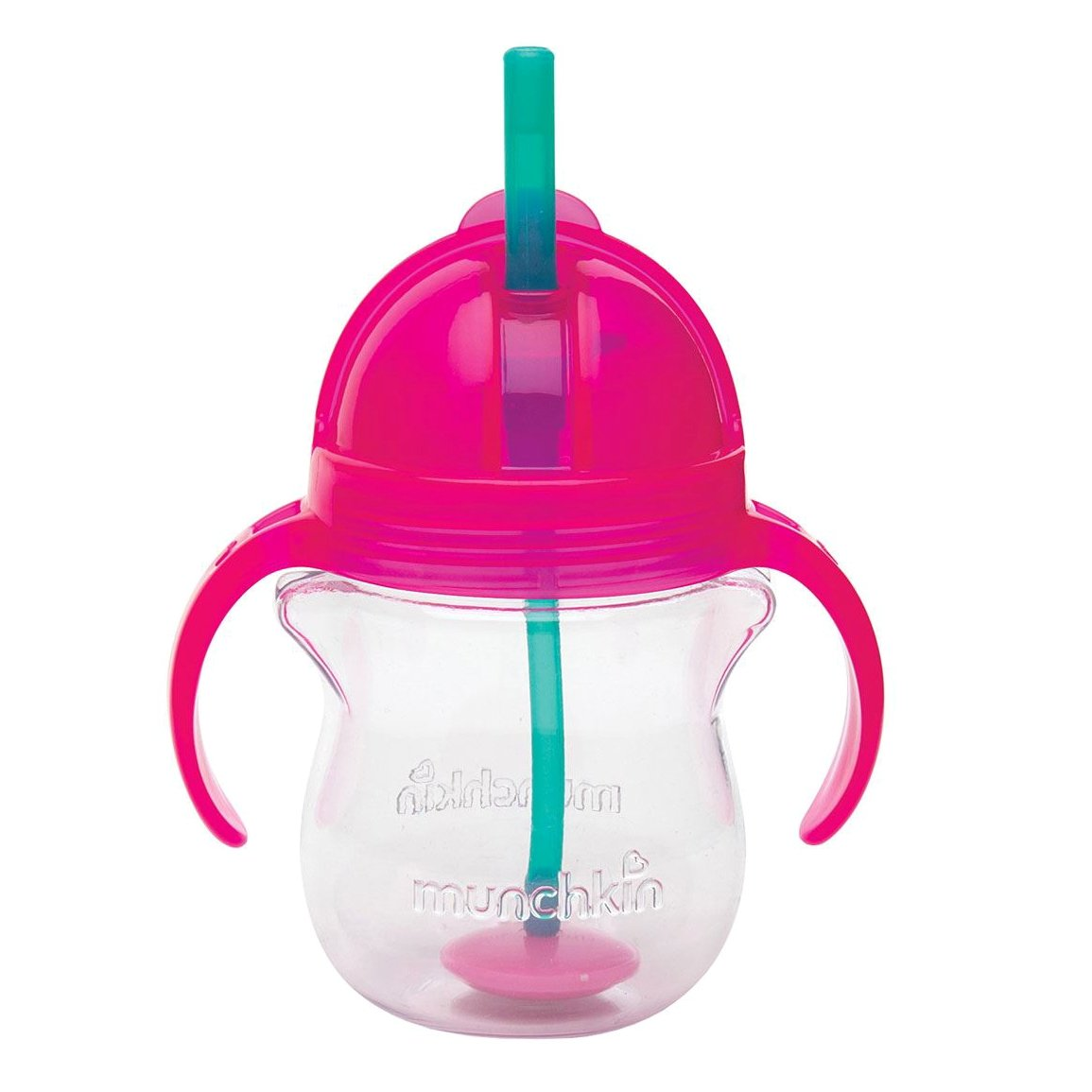 Munchkin Click Lock Tip & Sip Straw Cup Ποτήρι με Ευέλικτο Καλαμάκι 6m+, 207ml – ροζ