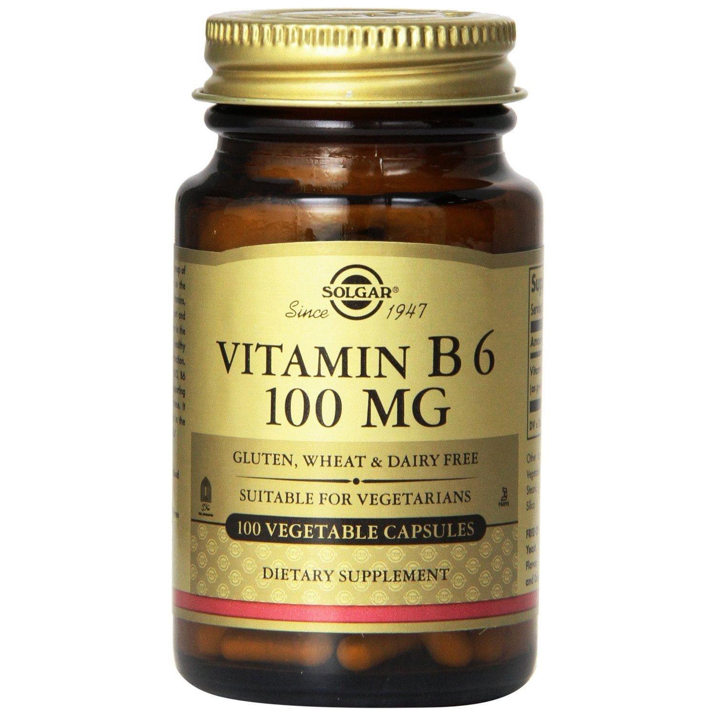 Vitamin B6 100tabs Solgar,Συμπλήρωμα Διατροφής για την Ομαλή Λειτουργία του Εγκεφάλου και του Νευρικού Συστήματος – 100mg/100caps