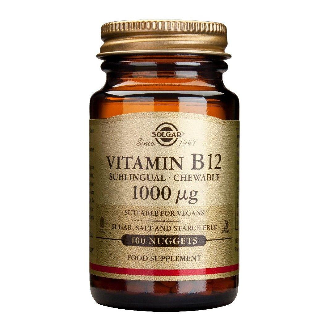 Solgar Methylcobalamin (Vitamin B12) 1000mcg,Συμπλήρωμα Διατροφής για την Καλή Λειτουργία του Νευρικού Συστήματος – 1000μg 100 nuggets