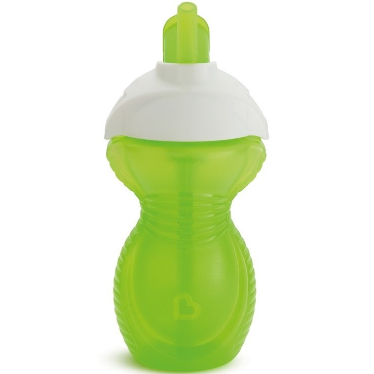 Munchkin Click Lock Κύπελο Με Καλαμάκι 296ml – πράσινο