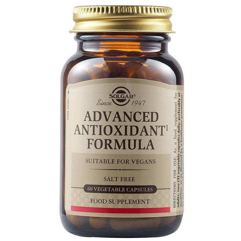 Solgar Advanced Antioxidant Formula Συμπλήρωμα Διατροφής για την Προστασία των Υγιών Κυττάρων του Οργανισμού veg.caps – 60 caps