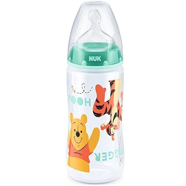 Nuk First Choice Plus Disney Winnie the Pooh Μπιμπερό PP 0-6 Μηνών με Θηλή Σιλικόνης Μεγέθους M 300ml – πράσινο