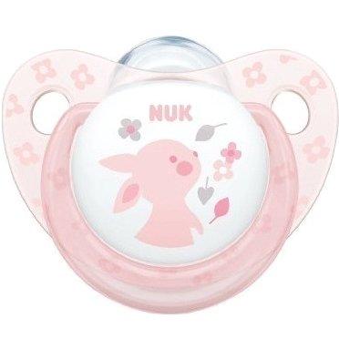 Nuk Baby Rose & Blue Πιπίλα Σιλικόνης με Κρίκο 1τεμάχιο – Baby Rose2 0-6 Μηνων