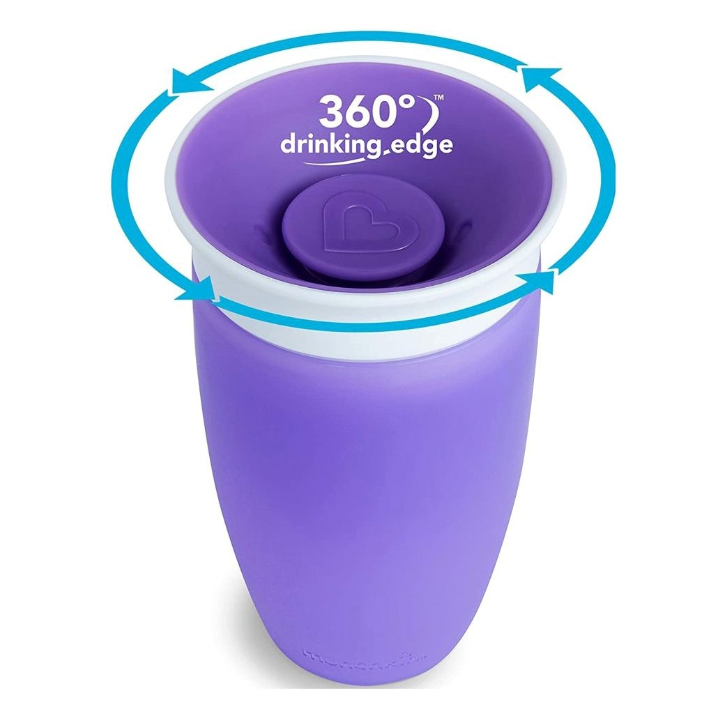 Munchkin Sippy Cup Παιδικό Κύπελλο Miracle 360° 12m+, 296ml – μωβ